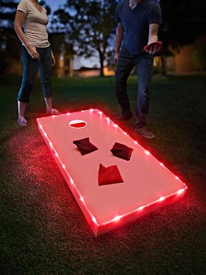 Brightz Cornhole Bean Bag Toss Lights Kit for Cornhole Boards - Red ()