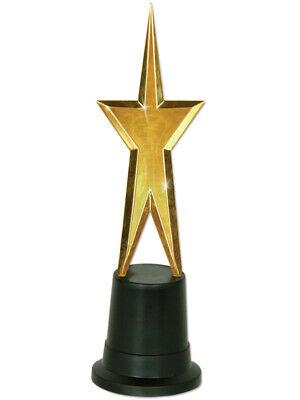Metallic Gold Star Actor Actress Award Costume Statue Trophy Decoration