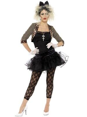 SMIFFYS Womens Fancy Dress 80s Wild Child Pop - Smiffys Fancy Dress Kostüm