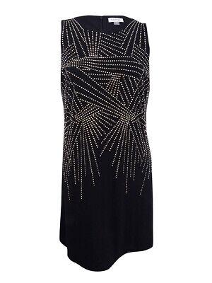 Calvin Klein Women's Plus Size Studded Sheath Dress (20W, Black)