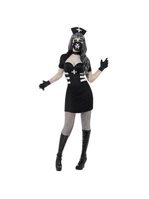 Kostüm Psycho Krankenschwester Halloween Schwarz - Krankenschwester Kostüm Schwarz