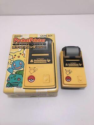 Nintendo Game Boy Pocket Printer Pokemon Pikachu Yellow Japan Beautiful Rare
