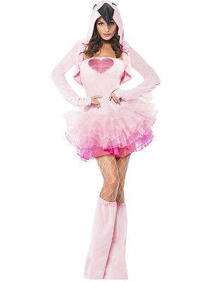 Adult Sexy Pink Flamingo Tutu Dress Bird Animal Costume ](Pink Flamingo Costumes Adults)