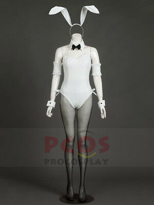 Female White Rabbit Costume (New In stock Sexy maid white rabbit Kasugano Sora cosplay costume female)