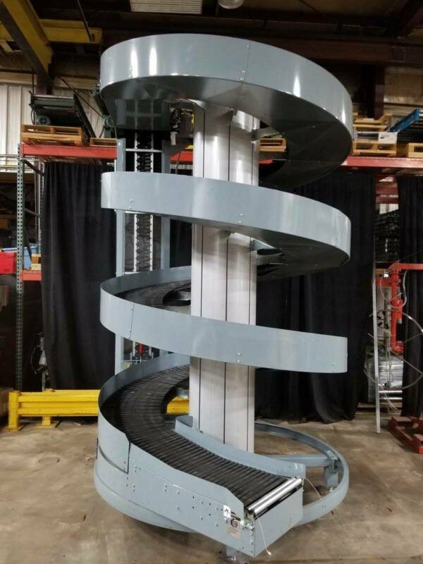 "Ryson Spiral Incline Conveyor 20"" Wide Belt 12"