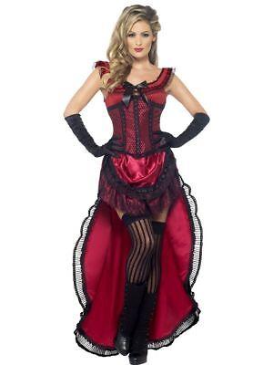 SMI - Damen Kostüm Western Saloon Girl Karneval Fasching ()