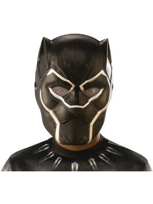 Child's Boys Black Panther Vibranium Armor 1/2 Mask Costume Accessory](Masquerade Costume Kids)