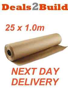 Builders Paper Roll - A1F Reinforced Building Paper 25m x 1.0m NEXT DAY DELIVERY