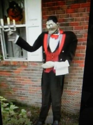 ANIMATED LIFE SIZE 7 FOOT MANLY the BUTLER SPEAKS 3 LANGUAGES HALLOWEEN PROP