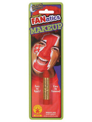 Red Sports Fanatic Makeup Stick Colored Halloween Costume Face Paint Accessory](Sports Halloween Makeup)