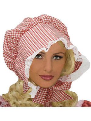 (Little House on The Prairie Gingham Bonnet Costume Hat)