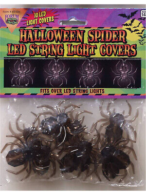 New Halloween Decoration LED String Light Covers 10 Spider Light Covers
