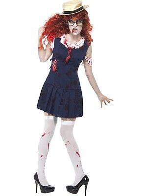 ZOMBIE SCHOOLGIRL SCHOOL GIRL SMIFFY'S HORROR COLLEGE STUDENT - College Halloween Costumes Girls