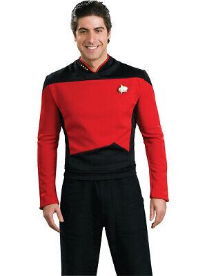 eneration Red Command Captain Adult Deluxe Costume Shirt (Next Generation Kostüm)