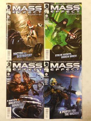 4x Dark Horse MASS EFFECT Foundation Video Game COMIC  #9 10 11 12 ~Fine /Unread