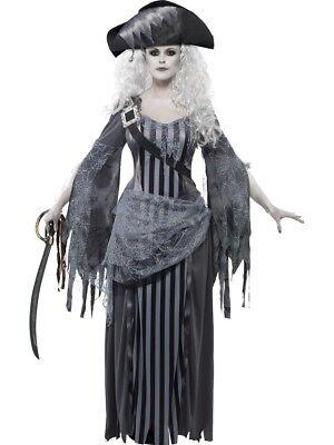 Ghost Ship Pirate Princess Halloween Fancy Dress Costume Size 16 - 18  ](Princess Ghost Costume)