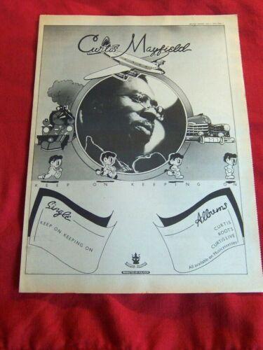 CURTIS MAYFIELD ORIGINAL 1972 VINTAGE MUSIC POSTER ADVERT KEEP ON KEEPING ON