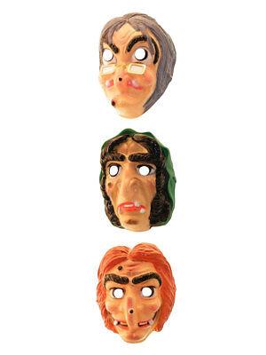 Gesichtsmaske für Kinder Hexe Karneval Halloween Kostüm