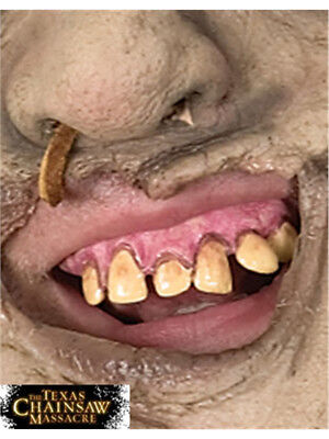 Texas Chainsaw Massacre Costume Leatherface Fake Vinyl Teeth Set - Costume Fake Teeth