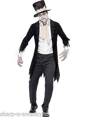Herren Toter Zombie Geist Leiche Bräutigam Halloween Kostüm Kleid Outfit