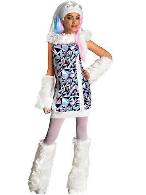 Monster High Costume For Girls (Girls Monster High Abbey Bominable)
