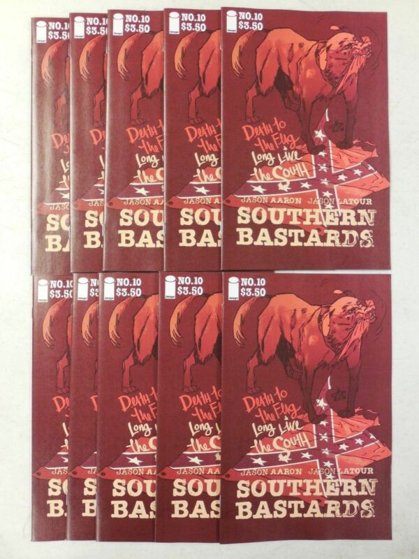 10x Image SOUTHERN BASTARDS #10 Comic VARIANT FLAG Charleston Charity COVER