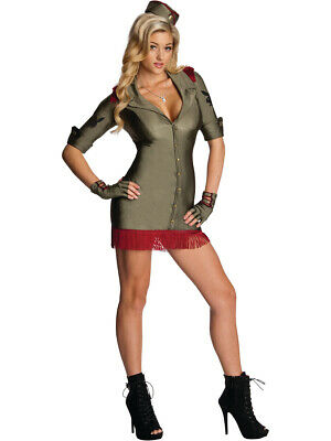 Women's Sexy Adult Playboy Bombshell Army Officer - Army Costume Women