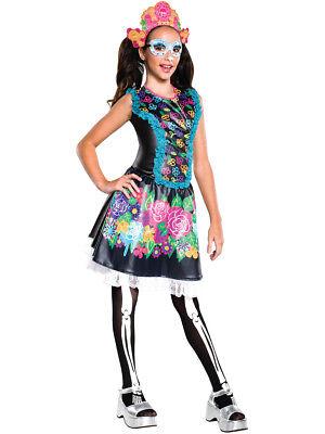 Child's Girls Monster High Skelita Calaveras Dress Costume