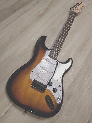 Fender Stratocaster Guitar TurboCharged w/Blender MOD Sunburst Squier Strat BLEM