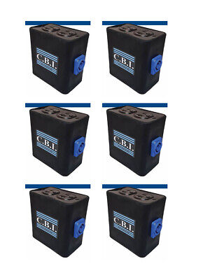 6pk Powercon Rubber Quad Box Power Distribution Twist-lock Distro Link