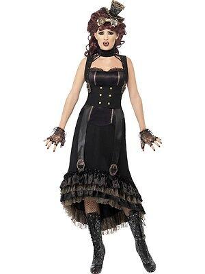 Kleid Kostüm Steampunk Vampirin Smiffys Vampir Kostümkleid Verkleidung Gothic