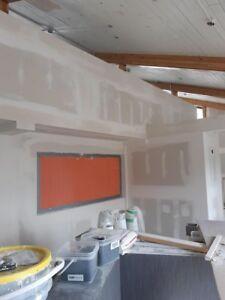 Professional mudding/ Taping/ Plastering/ Install drywall
