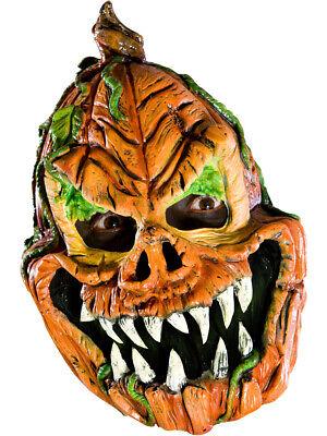 Adult's Psycho Scary Evil Pumpkin Vinyl Costume Mask](Psycho Pumpkin)