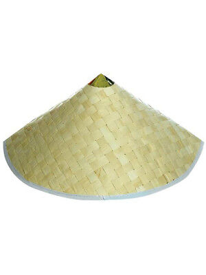 Adult Woven Costume Accessory Coolie Conical Chinese - Conical Hat