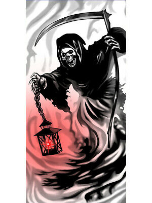 Scary Grim Reaper Light-Up Door Cover Halloween