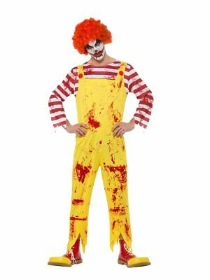 Smiffys Kreepy Creepy Killer Clown Ronald McDonald Adult Halloween Costume 40328