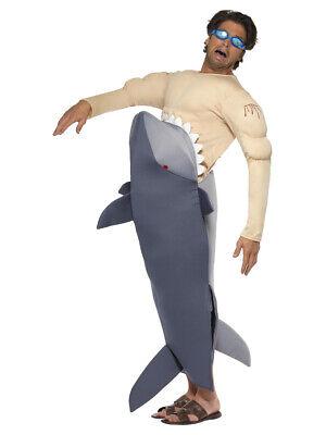 Erwachsene Herren Neuheit Man Frisst Shark Lustig Junggesellenabschied Kostüm