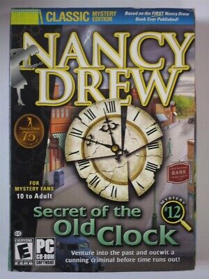 Video Game PC Nancy Drew #12 Secret of the Old Clock classic mystery edition Box
