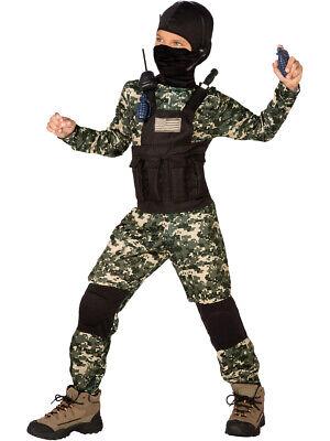 US Navy Seal SAS Anti-Terror Unit Classic Childs Costume Small 4-6 (Navy Seal Costume)