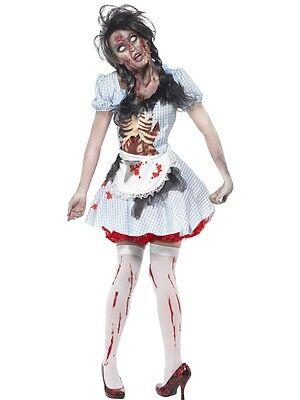 HORROR ZOMBIE DOROTHY FANCY DRESS COSTUME SMIFFYS HALLOWEEN WOMAN * SALE * ()
