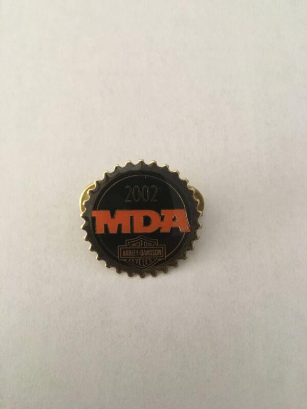 K8) Harley-Davidson 2002 MDA Charity Cycles Circular Motorcyle Pin
