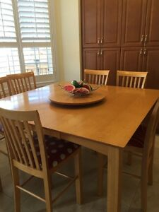 Solid Wood Dining Table and Chairs for 8