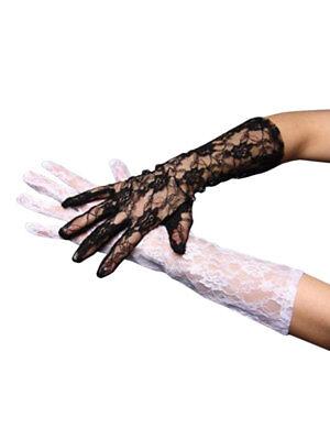 Paar Spitzen-Handschuhe Lang
