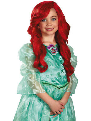 Disney Princess Ariel Child's Long Red Curly Costume Dress Up - Kids Dress Up Wigs