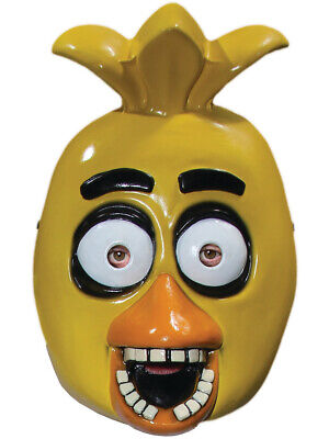 Adults Five Nights At Freddy's Chica Chicken 1/2 Mask Costume Accessory](Chicken Masks)