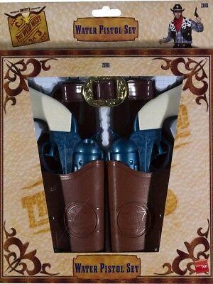 Cowboy Pistole Satz Western Holster Gürtel Kostüm Zubehör Wild West - Cowboy Pistole Holster Kostüm