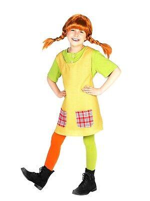 Pippi Longstocking Costumes (Pippi Longstocking Costume Kids Girls Fancy Dress Book TV Character Outfit)
