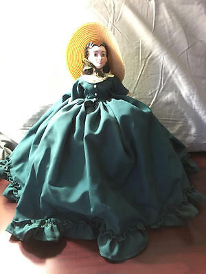 """11"""" BEVERLY WALTERS PORCELAIN SCARLETT O'HARA GONE WITH THE WIND HALF DOLL"""
