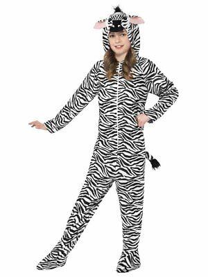 Smiffys Zebra Jumpsuit Bodysuit Zoo Animals Childrens Halloween Costume 27990