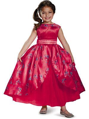 Girl Disney Costumes (Childs Girl's Deluxe Disney Princess Elena Of Avalor Dress Costume Toddler)